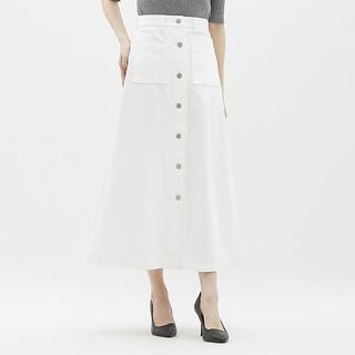 ジーユー(GU)のGU フロントボタンマキシスカート(ロングスカート)