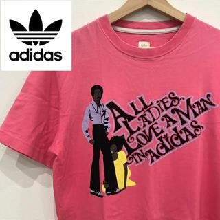 アディダス(adidas)のadidas アディダス ピンク Tシャツ(Tシャツ/カットソー(半袖/袖なし))