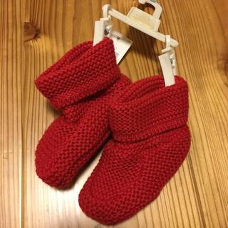 ベビーギャップ(babyGAP)の新品未使用品☆GAP ニットブーツ 赤 11㎝(ブーツ)