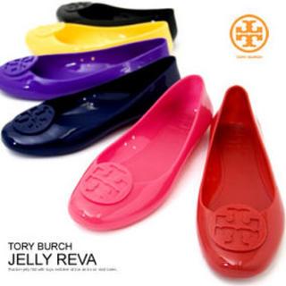 トリーバーチ(Tory Burch)の美品【TORY BURCH】レインシューズBlack(レインブーツ/長靴)
