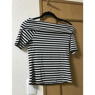 ジーユー(GU)のボーダーのTシャツ(Tシャツ(半袖/袖なし))