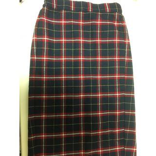 ジーユー(GU)のGU チェックタイトスカート(ロングスカート)