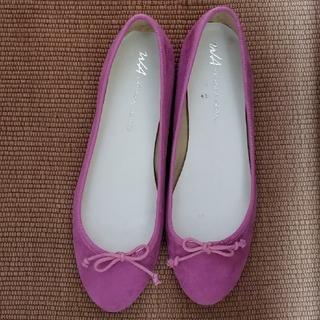 フラットパンプス ピンク サイズ42(バレエシューズ)