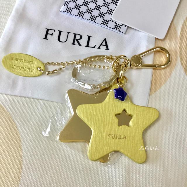 Furla(フルラ)の【新品未使用品】FURLA スター 星 キーリング キーホルダー イエロー レディースのファッション小物(キーホルダー)の商品写真