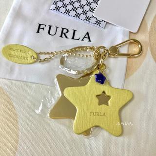 フルラ(Furla)の【新品未使用品】FURLA スター 星 キーリング キーホルダー イエロー(キーホルダー)