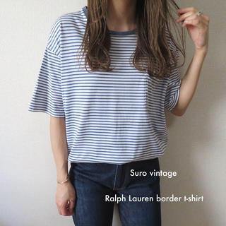 10373942f6254 ポロラルフローレン(POLO RALPH LAUREN)のRalph Lauren ポニー刺繍 ボーダー tシャツ