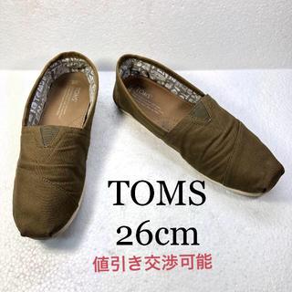 トムズ(TOMS)の【TOMS】トムズ メンズ スリッポン  美品 26cm(スリッポン/モカシン)