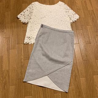 ノーブル(Noble)のnoble デザインカットスカート(ひざ丈スカート)