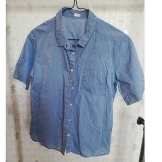 ジーユー(GU)のGU ブルー シャツ(シャツ/ブラウス(半袖/袖なし))