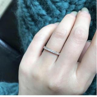 CZダイヤステンレスリング 10粒 シンプル 華奢 アレルギー対応 指輪 綺麗(リング(指輪))
