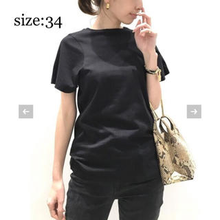アパルトモンドゥーズィエムクラス(L'Appartement DEUXIEME CLASSE)のL'Appartement ◆ TOTEME Tシャツ(ブラック)(Tシャツ(半袖/袖なし))
