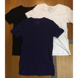 3枚セット ZARA 無地 Tシャツ Vネック 黒・白・紺