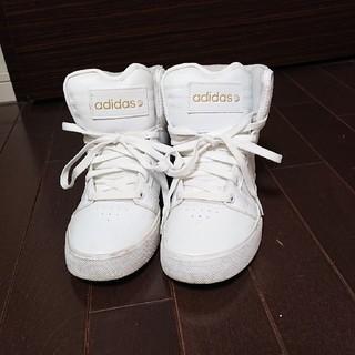 アディダス(adidas)のアディダス ネオレーベルホワイトハイカットスニーカー(スニーカー)