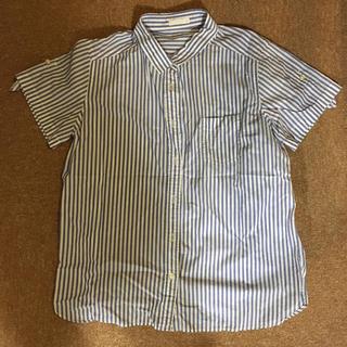 ジーユー(GU)のストライプシャツ(半袖)(シャツ/ブラウス(半袖/袖なし))