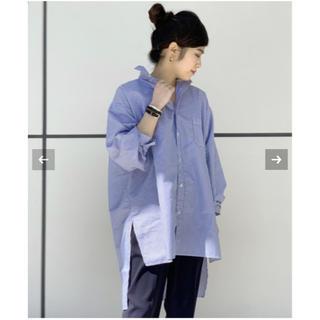 アパルトモンドゥーズィエムクラス(L'Appartement DEUXIEME CLASSE)のAMERICANA オーバーサイズ ボタンダウンシャツ 未開封新品タグ付き(シャツ/ブラウス(長袖/七分))