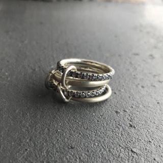 silver925 マット×ジルコニア  ラスト1点(リング(指輪))