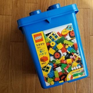 レゴ(Lego)の【廃盤・未使用】 LEGO 青いバケツ(知育玩具)