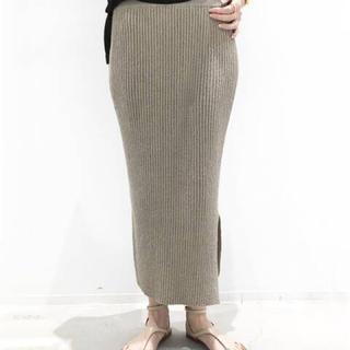 アパルトモンドゥーズィエムクラス(L'Appartement DEUXIEME CLASSE)のL'Appartement Boucle スカート◆ベージュ34(ロングスカート)