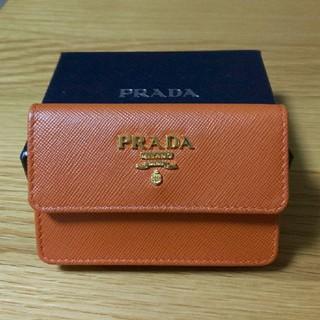 プラダ(PRADA)のSAFFIANO METAL レザー カードケース PRADA プラダ (名刺入れ/定期入れ)