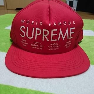 Supreme - supreme world famous cap シュプリーム キャップ レッド