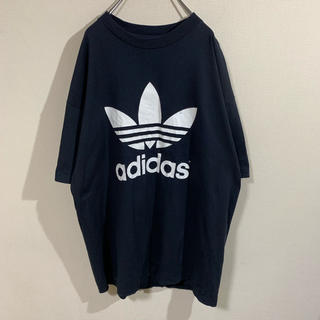 アディダス(adidas)のUSA製 adidas アディダス 両面 デカロゴ Tシャツ 半袖 90s(Tシャツ/カットソー(半袖/袖なし))
