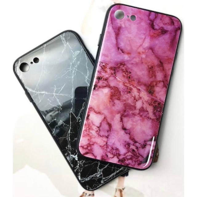 【新品】iPhone XR用 大理石柄 ガラスケース♡ ピンク おしゃれ 可愛いの通販 by すずらん♡'s shop|ラクマ
