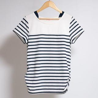 シマムラ(しまむら)のしまむら ネイビー×ホワイト ボーダー Tシャツ(Tシャツ/カットソー)