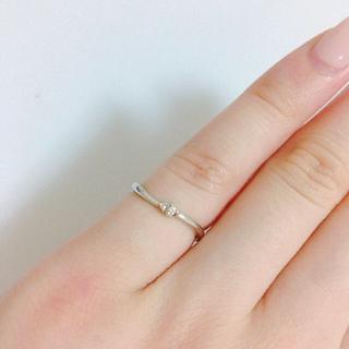 ヨンドシー(4℃)の4°C ピンキーリング❤︎ホワイトゴールド10k(リング(指輪))