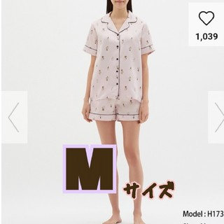【新品】完売品!SNOOPYコラボ★サテンパジャマ★ピンクM