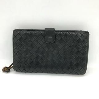 ボッテガヴェネタ(Bottega Veneta)の☘一斉セール☘ ボッテガヴェネタ 二つ折り 財布 黒 メンズ(折り財布)