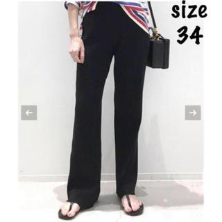 アパルトモンドゥーズィエムクラス(L'Appartement DEUXIEME CLASSE)のRib Knit パンツ 34 ブラック 未開封新品タグ付き(カジュアルパンツ)