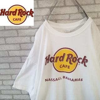ビックサイズ  ハードロックカフェ 定番デカロゴ tシャツ ホワイト (Tシャツ/カットソー(半袖/袖なし))