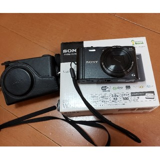 SONY - 美品 サイバーショット DSC-WX300 純正レザーカバー付き
