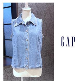 ギャップ(GAP)のGAP ギャップ ◆ デニムシャツ ノースリーブ (シャツ/ブラウス(半袖/袖なし))