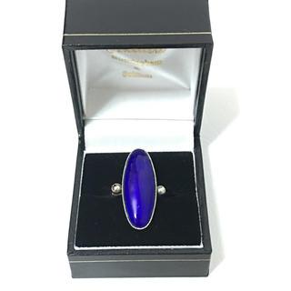 vintage★ おおぶりリング ブルー (リング(指輪))