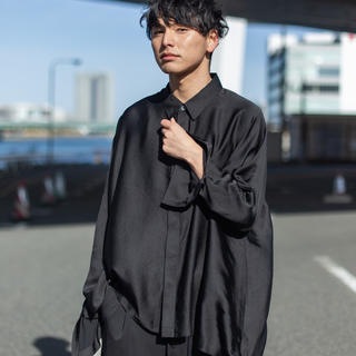 Yohji Yamamoto - RePLAY ドルマリンスリーブシルクシャツ
