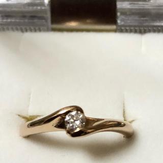 k18(PG)ダイヤモンドピンキーリング  0.1カラット(リング(指輪))