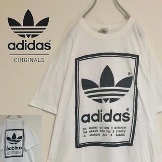 アディダス(adidas)の【80s胸背両面プリント】adidas トレフォイルロゴ染み込みプリントTシャツ(Tシャツ/カットソー(半袖/袖なし))