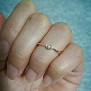 ザキッス(THE KISS)のTHE KISS♥ K10 PG ダイヤモンド リング💍(リング(指輪))