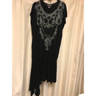 ヴィヴィアンウエストウッド(Vivienne Westwood)のネックレスプリント カットソーワンピース(カットソー(半袖/袖なし))