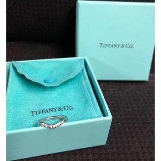 ティファニー(Tiffany & Co.)のティファニー Tiffany & Co. カーブドバンド ダイヤモンドリング(リング(指輪))