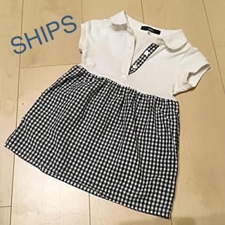 44b7286cf1857 シップスキッズ(SHIPS KIDS)の SHIPS ギンガムチェックワンピース(ワンピース)