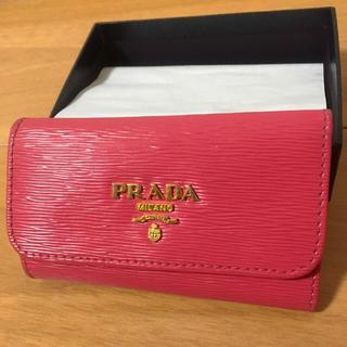 プラダ(PRADA)のPRADA VITELLO MOVE 6連キーケース 正規品 ピンク(キーケース)