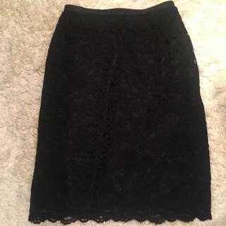 クリアインプレッション(CLEAR IMPRESSION)の美品 クリアインプレッション♡レース スカート(ひざ丈スカート)