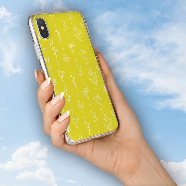 花と音符シリーズ♬可憐な手書きの野草花 レモン色♬スマホ用ハードケースの通販 by ♬nanayotta♬'s shop|ラクマ