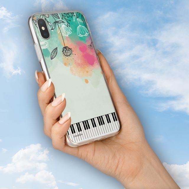iphoneケース 木 、 花と鍵盤シリーズ♬水彩画風の春色の花々♬スマホ用ハードケースの通販 by ♬nanayotta♬'s shop|ラクマ