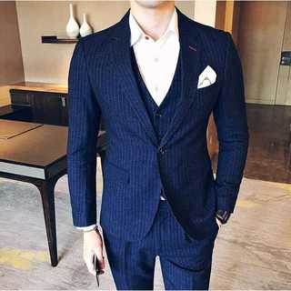Man セットアップ紳士 スーツメンズ  ストライプスーツジャケット zb320(セットアップ)