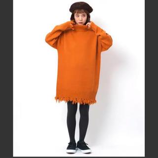 ミルクフェド(MILKFED.)のHIGH NECK KNIT DRESS(ニット/セーター)