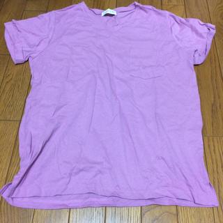 シマムラ(しまむら)の新品未使用 しまむら 紫 無地Tシャツ(Tシャツ(半袖/袖なし))