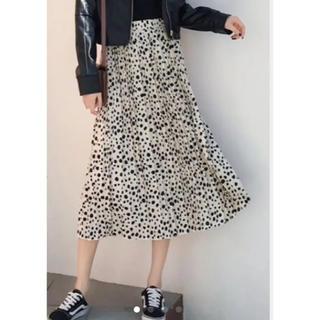 ダルメシアン スカート フリーサイズ プリーツ(ロングスカート)